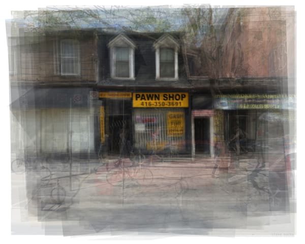 Overlay art – contemporary fine art prints of a Toronto Pawn Shop.