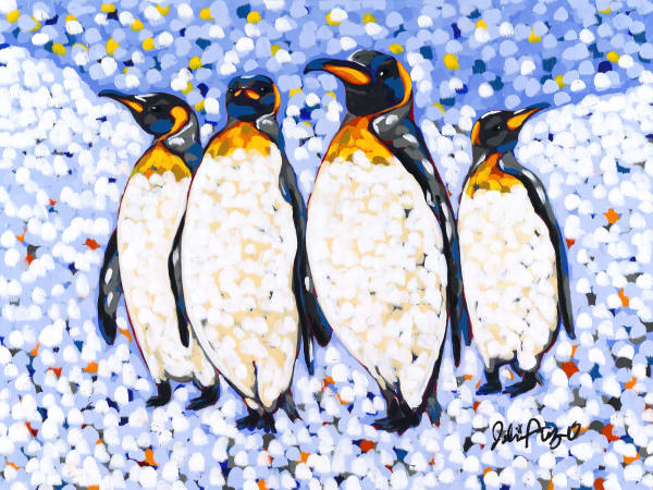 Four Brothers, a painting by Jodi Augustine