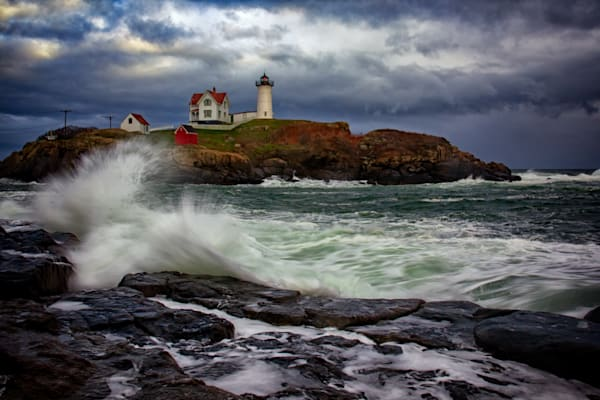 Autumn Storm at Cape Neddick, by Rick Berk