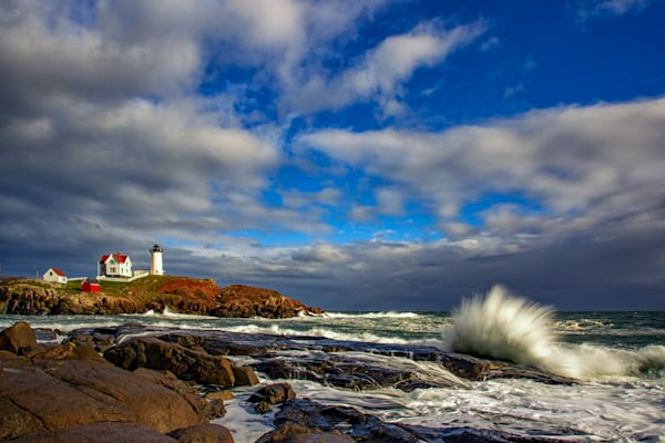 Autumn Afternoon at Cape Neddick Lighthouse by Rick Berk