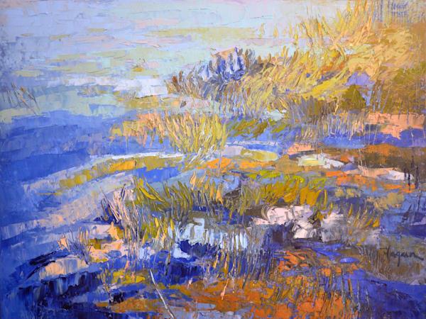 Rippling Flow    Oil Painting Art | Dorothy Fagan Joy's Garden