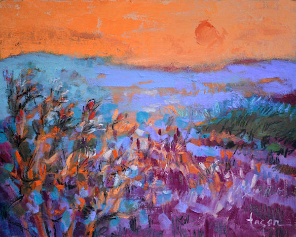 Sweetness of the Evening   Abstract Landscape painting Dorothy Fagan Collection