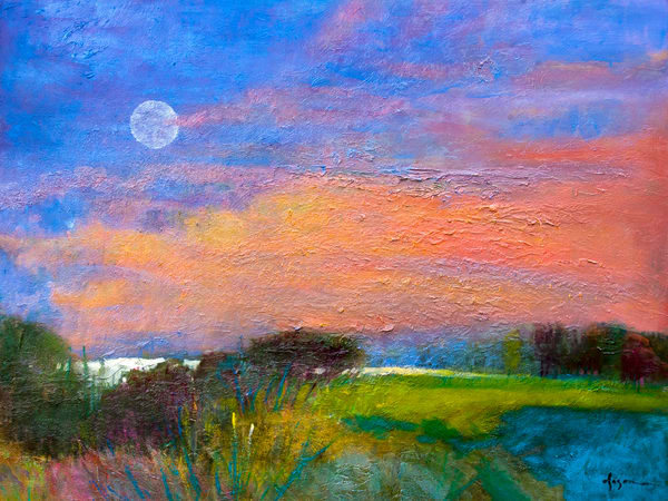 Super Moon Painting by Dorothy Fagan