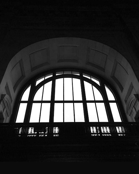 union station, kansas city, photography, black & white