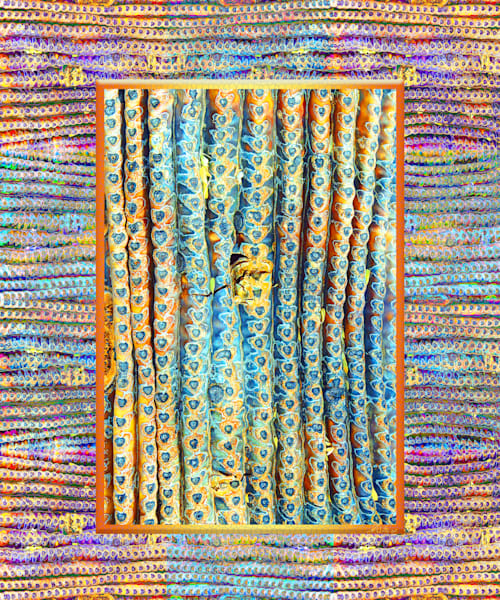 Saguaro Window print of photographs transformed into digital abstract art for sale by Maureen Wilks