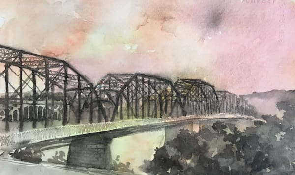 Walnut Street Bridge 3 Art | Romanova Art