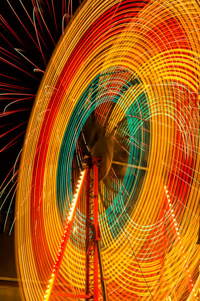 Ferris Wheel Fireworks Art | Brandon Hirt Photo