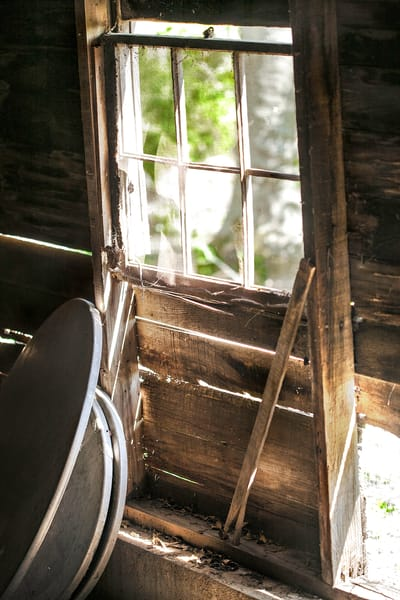 Golden Light Collection| Barn Window. A fine art color photograph taken during the golden light hour by photographer, David Zlotky