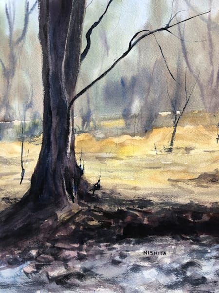 Original Watercolor Painting for Sale | Sunny Afternoon | Artist Nishita Jain