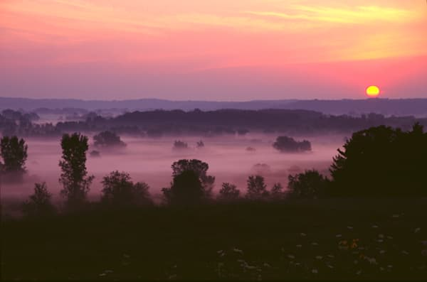 Sunrise and Fog photograph for sale as Fine Art.