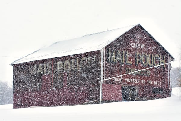 Mail Pouch Snow Art | Brandon Hirt Photo