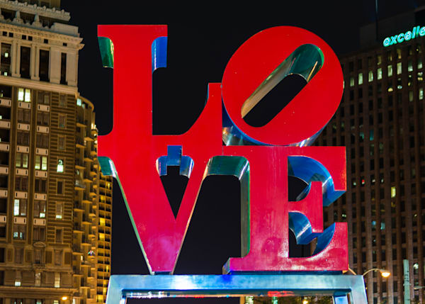 Love Park Night Art | Brandon Hirt Photo
