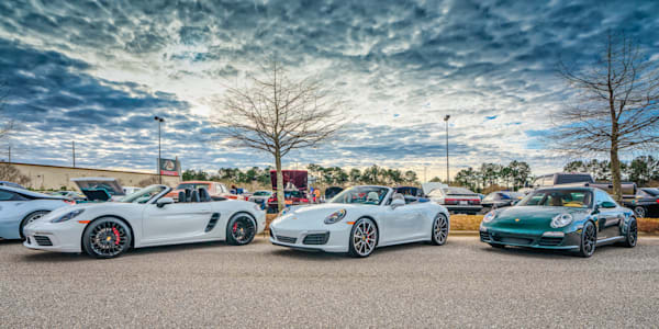 Porsches at Mobile Bay Cars & Coffee