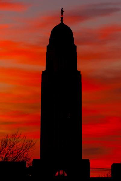 Nebraska Sunset Art   Brandon Hirt Photo