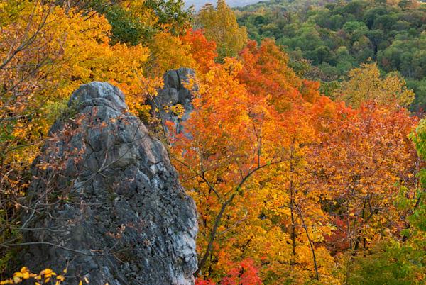 Chimney Rocks Autumn Art | Brandon Hirt Photo
