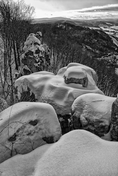 Chimney Rocks Winter Art | Brandon Hirt Photo