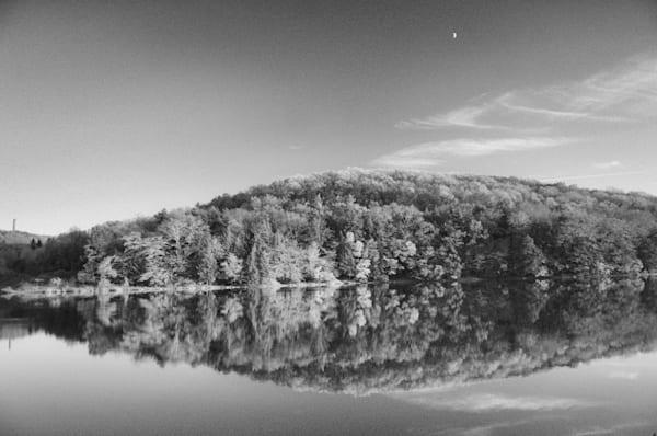 Lake Rowena Black And White Art   Brandon Hirt Photo