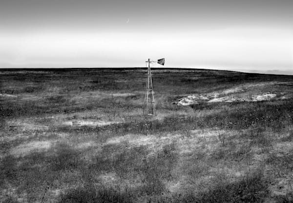 Luminous Light Collection | The Soil was in Their Blood. Black and white fine art photograph of Kansas Flint Hills by David Zlotky