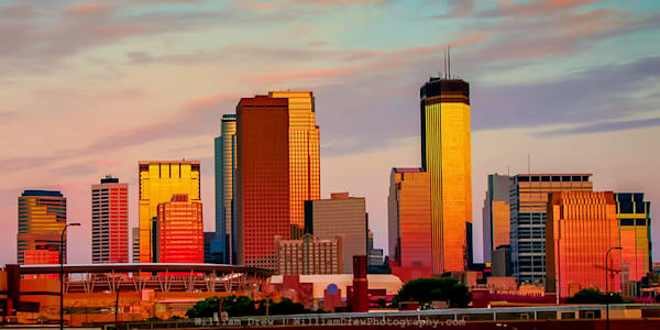 Minneapolis Sunset Wall Mural | William Drew Photography