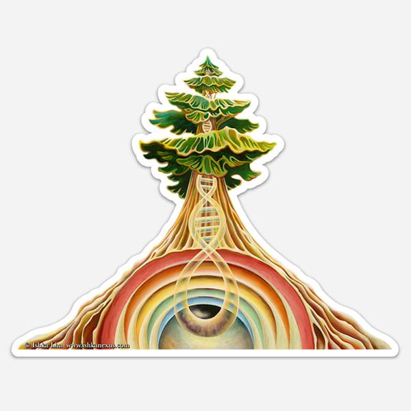 Tree of Life - Visionary Art Sticker by Ishka Lha