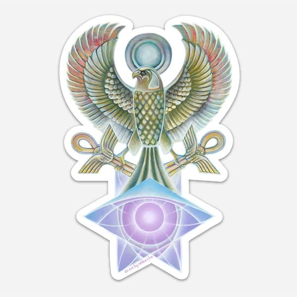 Falcon Star - Die Cut Art Stickers by Ishka Lha