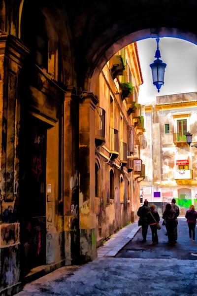 The Alley from Teatro Bellini, Catania, Sicily.