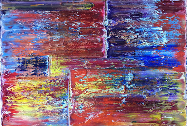 Transparency abstract PMS oil painting