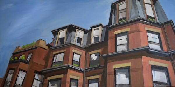 Marlborough Street Rooflines (print)