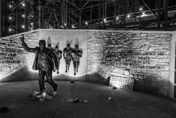 Joe Paterno Status in front of Penn State's Beaver Stadium