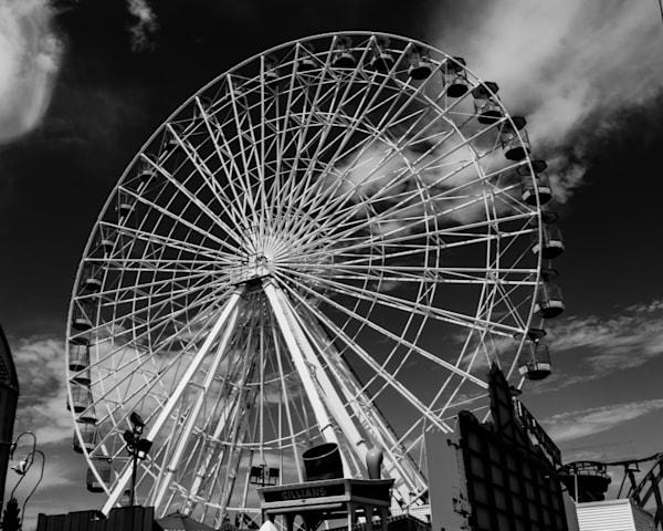Ocean City Ferris Wheel Art   Brandon Hirt Photo
