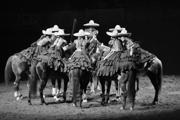 Black and White photograph of Escaramuzas for sale as Fine Art