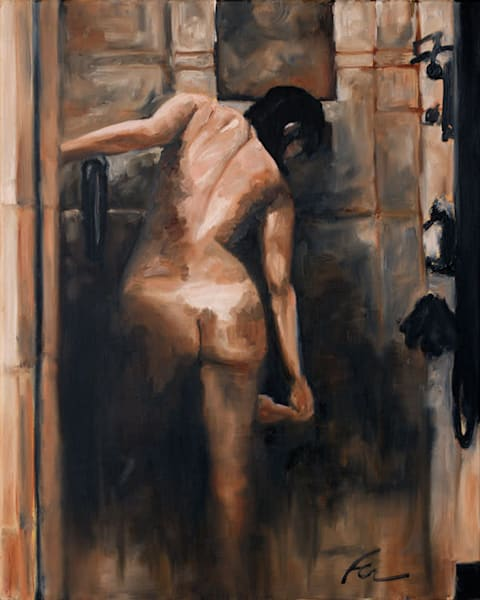 Shower Study 1 | oil on canvas