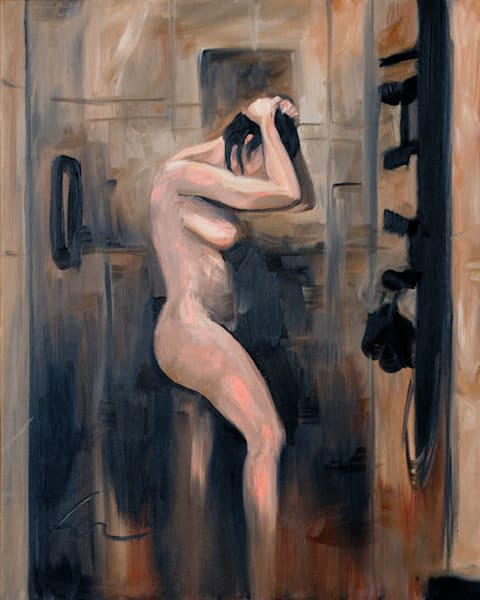 Shower Study 3 | oil on canvas