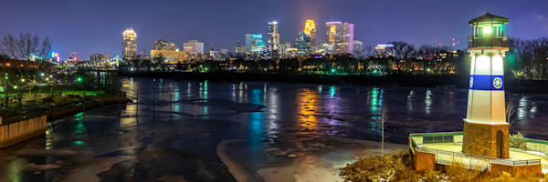 Boom Island Skyline - MPLS Skyline Art | William Drew