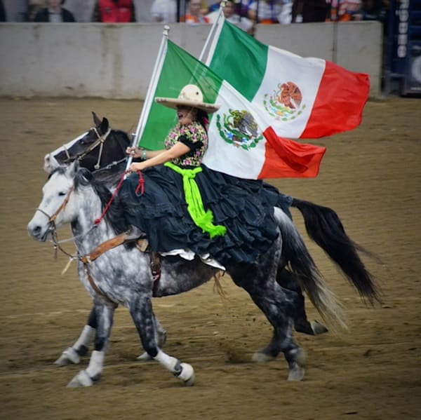 Photograph of Mexican Horsewomen for sale as Fine Art