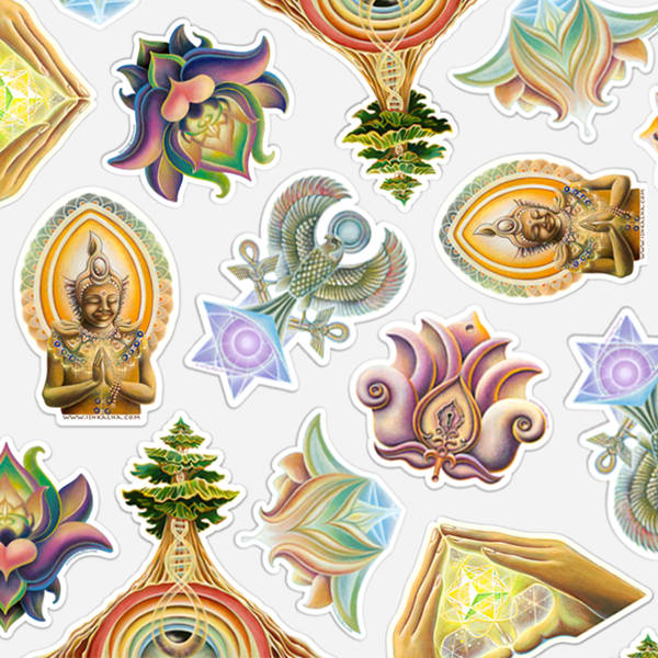 Visionary Art Stickers for Sale - The Art of Ishka Lha