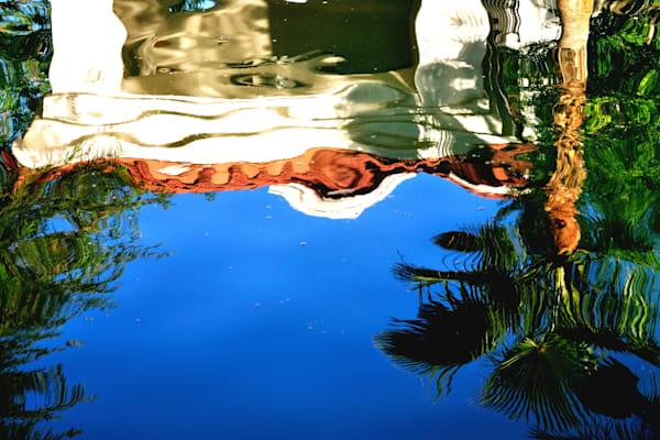 Gazebo and Trees Reflection