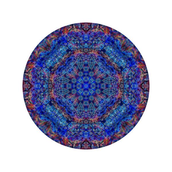 Blue Geometry M1 - Modern Mandala | A Psychedelic Art Project by Cameron Emmanuel
