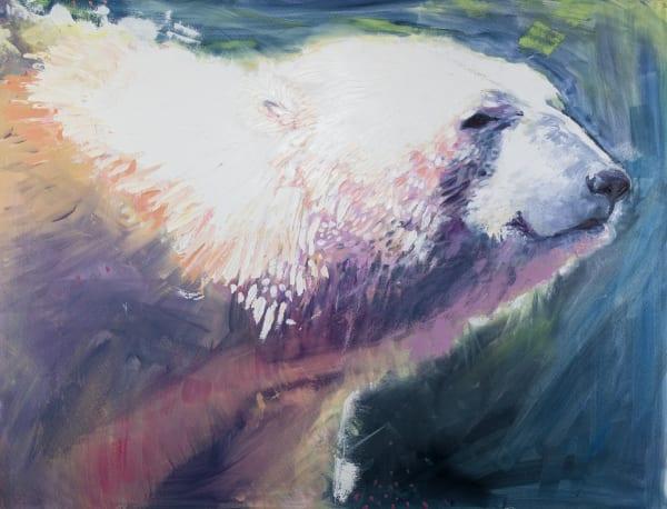 Polar Bear Study In White Art | Jessica Hughes Fine Art