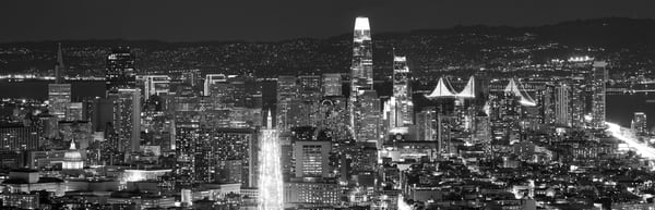 NIGHTFALL SKYLINE, SAN FRANCISCO