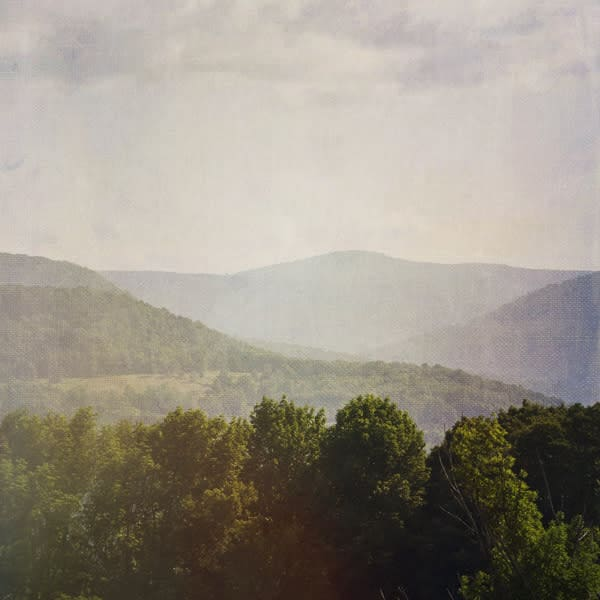 Catskill Mountain View Photo Tile - for sale as 4x4 and 6x6-inch ceramic tiles