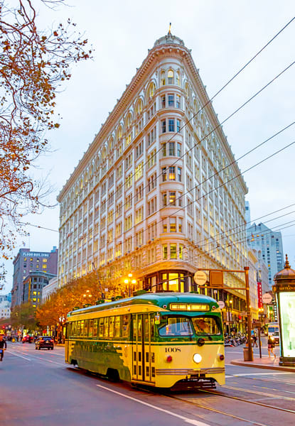 Flatiron Building & Streetcar by Josh Kimball Photography