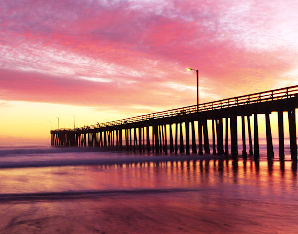 Cayucos Pier at Sunset by Josh Kimball Photography