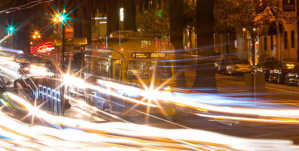 Castro Streetcar Blur by Josh Kimball Photography