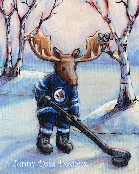 Winnipeg Jets Moose | Jenny Dale Designs