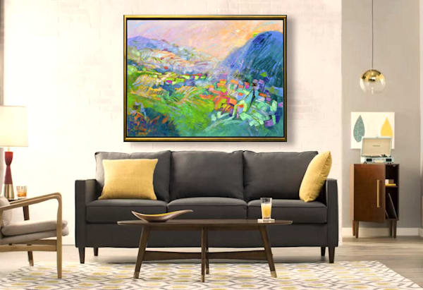 Colorful Tuscan Landscapes Paintings Art Prints on Canvas by Dorothy Fagan