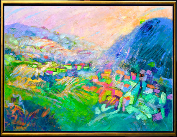 Abstract Mountain Landscape, Original Oil Painting, Embraced by Dorothy Fagan