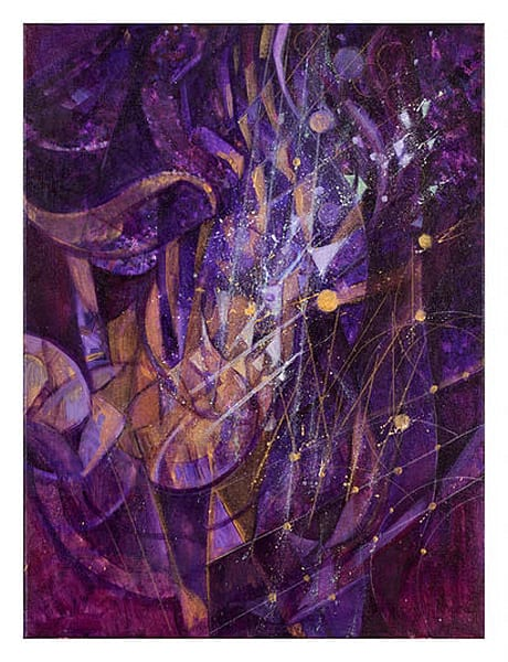 Crescendo In Purple And Gold Art | Freiman Stoltzfus Gallery