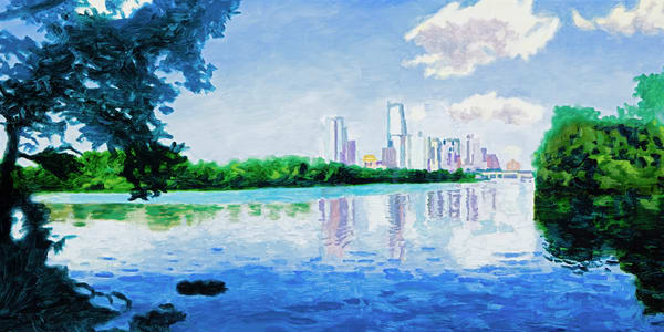 Downtown Lakeview, Austin Art, The Art of Max Voss-Nester