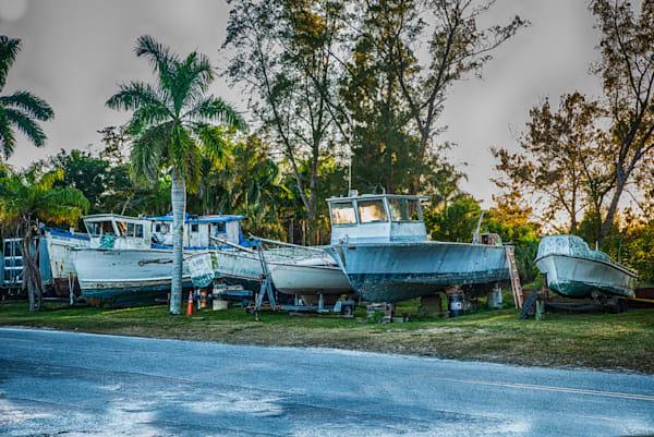 Cortez Boat Yard Retirees Photography Art by Artist David Wilson